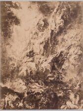 PHOTO 1869 SIGNÉE HANFSTAENGL MUNICH ALLEMAGNE RUBENS LA CHUTE DES DAMNÉS