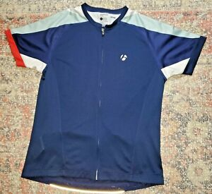 Bontrager Women's Sonic Cycling Fitted Jersey Size Large~Navy~Full Zip~VGC