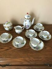 Herend Queen Victoria Mocha set,,,17 Pieces ,used as display