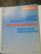 Used Echo Trimmer SRM-210E / SRM-210AE 33 Page Service Manual #402-11