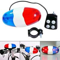 Bicycle Bell 6 Flashing LED 4 Sounds Police Loud Siren Horn Light Trumpet B U4W4