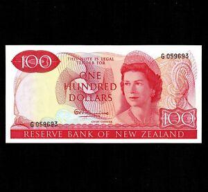 New Zealand 100 Dollars 1967 P-168a * Unc * Signature R.N. Fleming * Elizabeth *