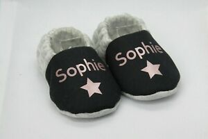 Name baby booties, personalised, vinyl printed, sizes up to 24 months