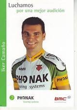 CYCLISME carte cycliste IKER CAMANO équipe PHONAK 2003