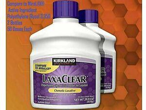 Kirkland Signature Miralax Laxative Constipation Stool Softener Laxaclear 2 Pk !
