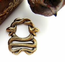 ANTIQUE BRASS Double Egyptian SNAKE - SNAKES Stamping Jewelry Finding (FB-6084)