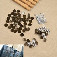 20/50pcs Suspender Jeans Buttons Shank Button Replacement DIY Sewing Clothing