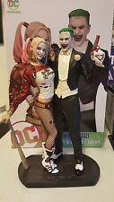 2017 DC Suicide Squad Harley Quinn Margot Robbie Jared Leto Joker Dual Statue LT