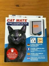 Cat Mate - 4 Way Locking Cat Flap - White Weather- and draft-proof