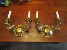 2 SPANISH SOLID BRASS 2L SWAN SCONCES THICK HEAVY SCONCES HOME & GARDEN EXC! CON