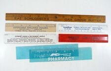 Lot of 7 Vintage Advertising Rulers Butter Goodyear Appliance KMart Pharmacy