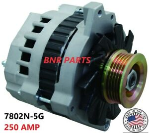 250 Amp 7802-115G NEW Alternator GMC Chevy High Output Generator HD PERFORMANCE