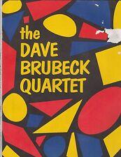 Dave Brubeck Quartet 1950'S Concert Program