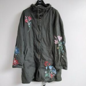 New Look Spring Embroidered Parka Coat UK Size 12