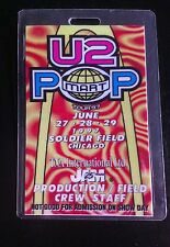 U-2 Laminate 1997 Chicago Soldier Field Tour Staff Last One In Stock!