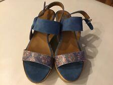 Sandaletten, Wedges, Gr. 39, blau, neuwertig, von Tamaris