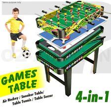 4 In 1 Table Tennis Games Air Hockey Pool Foosball Soccer Football Snooker Toy