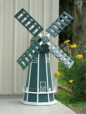5 ft. Octagon (8 sided) Poly Dutch Windmill (Green with White Trim)