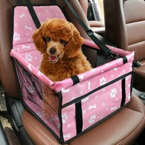 Car Seat For Dog Pet Cat Booster Travel Box Bag Hammock Basket Carrier Chair Us