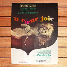 AFFICHE 120X160 CM À COEUR  JOIE  BOURGUIGNON BRIGITTE BARDOT LAURENT TERZIEFF