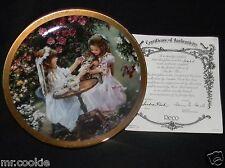 Tea for Three Plate by Sandra Kuck on Enchanted Gardens Collection COA 3165