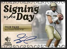 Tyler Palko 2007 SP Rookie Threads Signing Day Auto Card