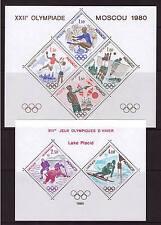Monaco, Olympiade 1980, 2x Sonderblock, 1915-1918 + 1919-1920, postfrisch