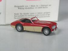 Rare: série wiking modèle Austin Healey 3000 rouge-crème en OVP