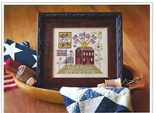 """BETSY'S HOUSE"" Cross Stitch Pattern ~  PLUM STREET SAMPLERS"