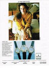 PUBLICITE ADVERTISING 084  1990  GUCCI  collection montres