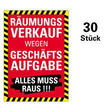 "30er SPARPACK Plakat ""Räumungsverkauf wegen Geschäftsaufgabe"" DIN A1 AUSVERKAUF"