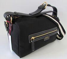 NEW Frances Valentine Small FLANNERY Black Nylon Crossbody Hobo Bag