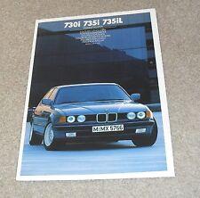 BMW 7 Series E32 Interior & Exterior Colour Brochure 1986 - 730i 735i 735iL