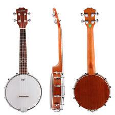 Kmise 4 String Banjo Ukulele Uke Banjolele Concert 23 Inch Size Sapele Wood