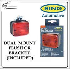 Bague 12v Remorque Auto Compatible Carré Pare-Chocs Arrière Support Rouge