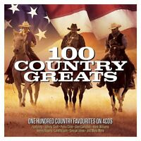 100 Country Greats 4 CD Set Johnny Cash Patsy Cline Glen Campbell Hank + More