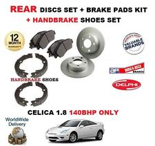 FOR TOYOTA CELICA 1.8i 140BHP 1999-2005 REAR BRAKE DISCS & PADS SET + SHOES KIT