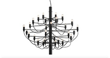 Lampe suspendue style Gino Sarfatti 30 lampes Noir