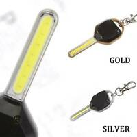 1XMini COB LED Outdoor Flashlight Light Key Ring Keychain Torch Lamp Gracious