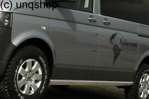 UK Stock VW T5 T6 LWB Side skirts PANAMERICANA style