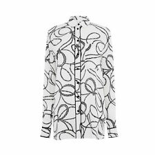 Warehouse Rope Print Shirt White Size UK 6 rrp £35 LF075 LL 29