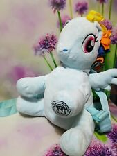 MY LITTLE PONY RAINBOW DASH CHARACTER BAG BACKPACK SOFT PLUSH  TOY  PREOWNED