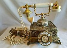 Vintage Princess French Victorian Style Rotary Telephone 1977