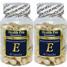 2 x Squalene Vitamin-E Skin Oil Facial Oil 90 Gels, Moisture Complex Capsules