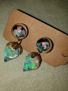 826 Floating Opal Interchangeable Earrings