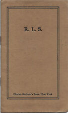 Charles Scribner's Sons' Thistle Edition/Robert Louis Stevenson/Ad Booklet