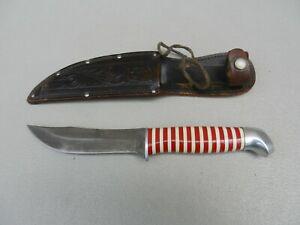 1959 Craftsman Schrade Walden , N.Y. Model 9508 KnifeCandy Stripe W/ Sheath NICE