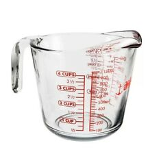 Anchor Hocking 1 Litre Glass Measuring Jug. Measures in Oz Pints & Ml