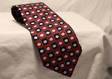 "Viagra Pfizer ""Little Blue Pill"" 100% Silk Red & Blue Men's Necktie Tie"