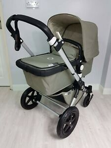 Bugaboo Cameleon3 Classic khaki pram with carrycot and seat